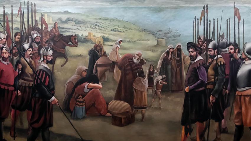 Illustration de l'expulsion des Morisques d'Espagne. / Ph. DR