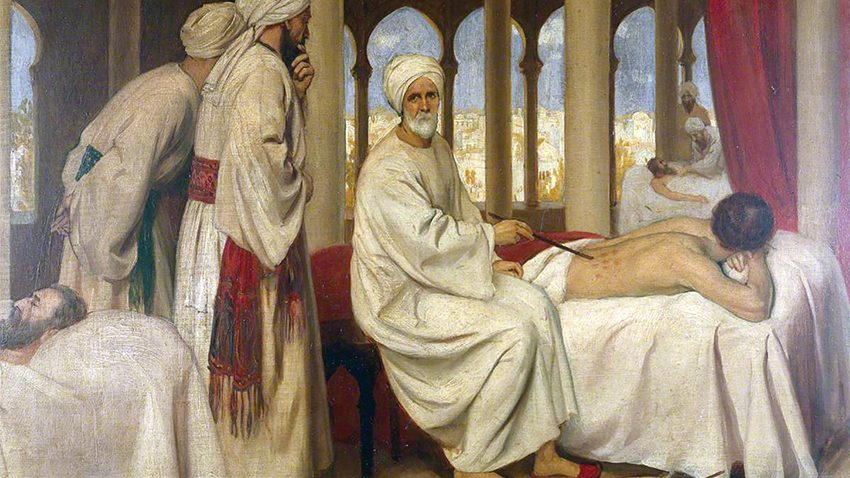 Board, Ernest; Albucasis Blistering a Patient in the Hospital at Cordoba; Wellcome Library; http://www.artuk.org/artworks/albucasis-blistering-a-patient-in-the-hospital-at-cordoba-125731