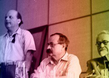 Nahoum Slousch (à droite).