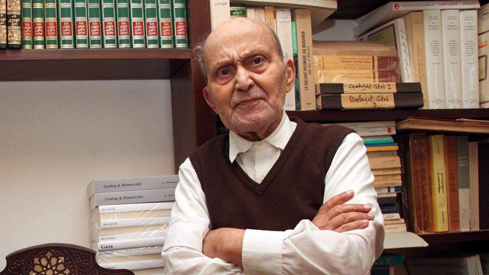 (FILES) File image dated December 08, 2011 :l'historien,Islamologue et penseur Tunisien Mohamed Talbi est decede a l'age de 95 ans a Tunis le 1er mai 2017. Mohamed Hammi/Sipa Press//HAMMI_HAMM01793/Credit:HAMMI/SIPA/1705020805