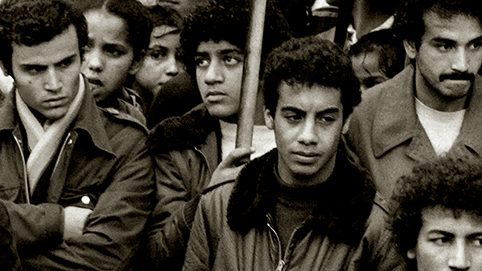 People participate in a silent protest, on November 10, 1982 in Nanterre to pay homage to young Moroccan Abdennbi Guemiah killed by a bullet from a suburban house, on November 06. AFP PHOTO PHILIPPE BOUCHON / AFP PHOTO / PHILIPPE BOUCHON