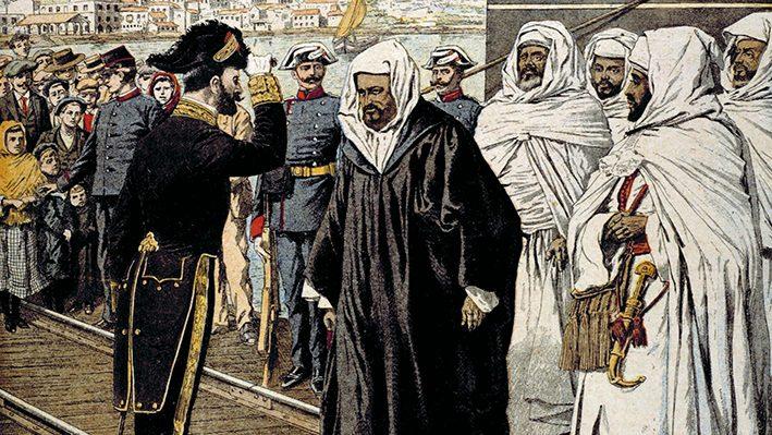 """ArrivÈe des ambassadeurs marocains dont Sidi-Mohammed Torres, ‡ la confÈrence d'AlgÈsiras (janvier/avril 1906). """"Le Petit Journal"""", janvier 1906.    RVB-05293"""