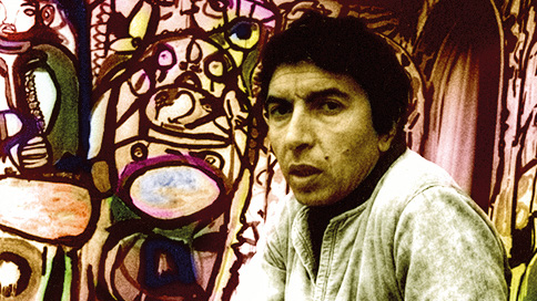 Farid Belkahia at Chaϊbia's place, Casablanca, 1970. Courtesy of Galerie Venise Cadre, Casablanca